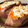 Baked Sweet Potatoes with Goat Cheese