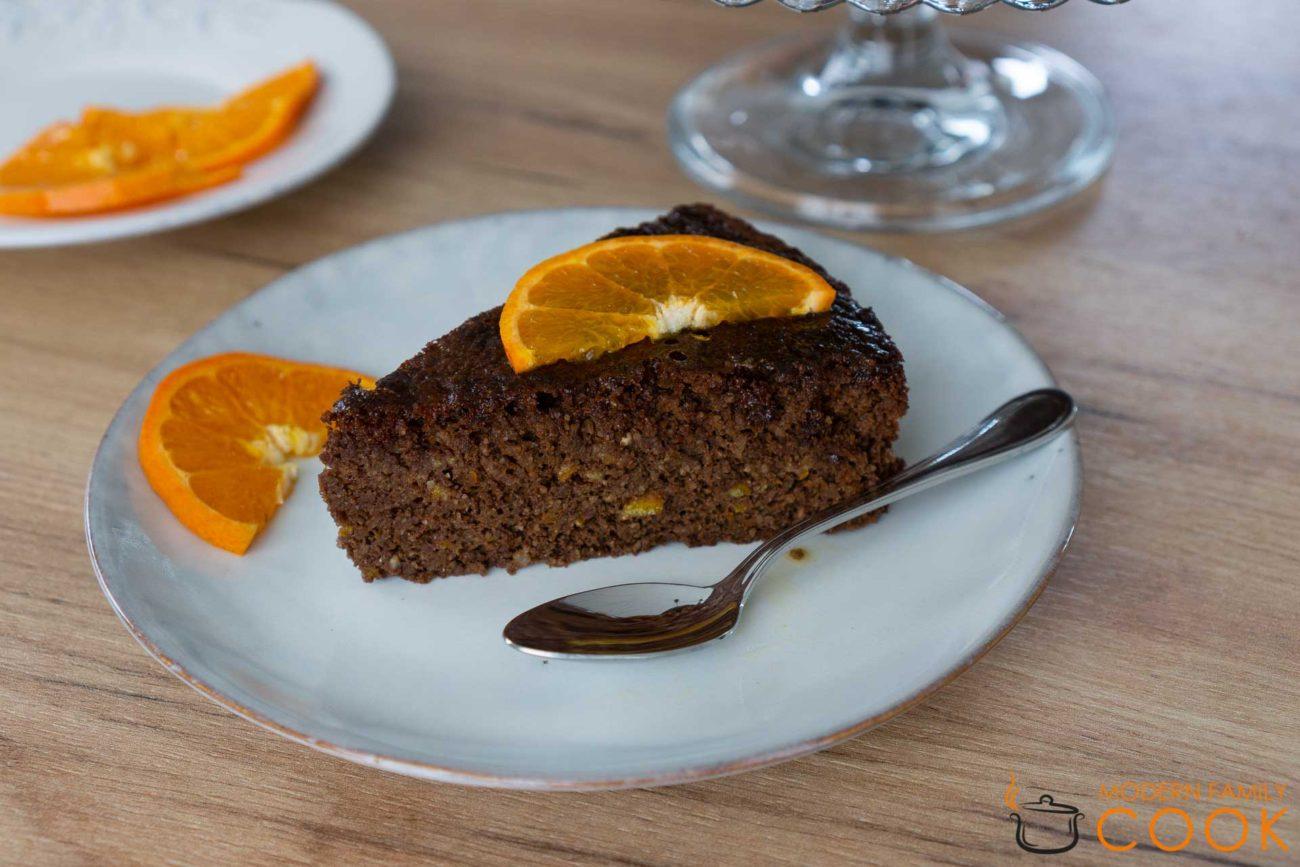 Шоколадно-апельсиновый пирог (gluten-free, dairy-free)