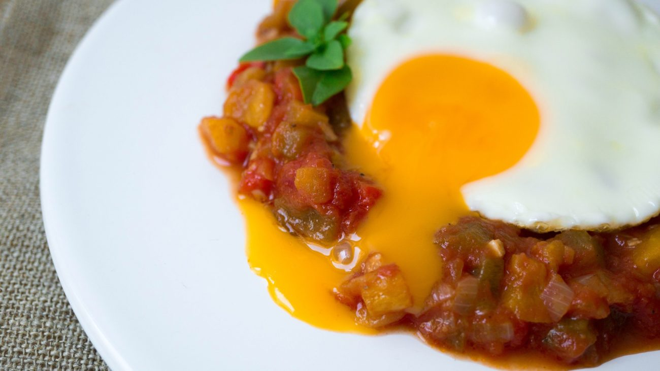 Piperade with Eggs