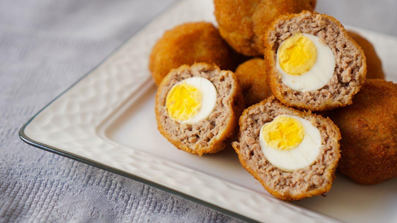 Мини яйца по-шотландски