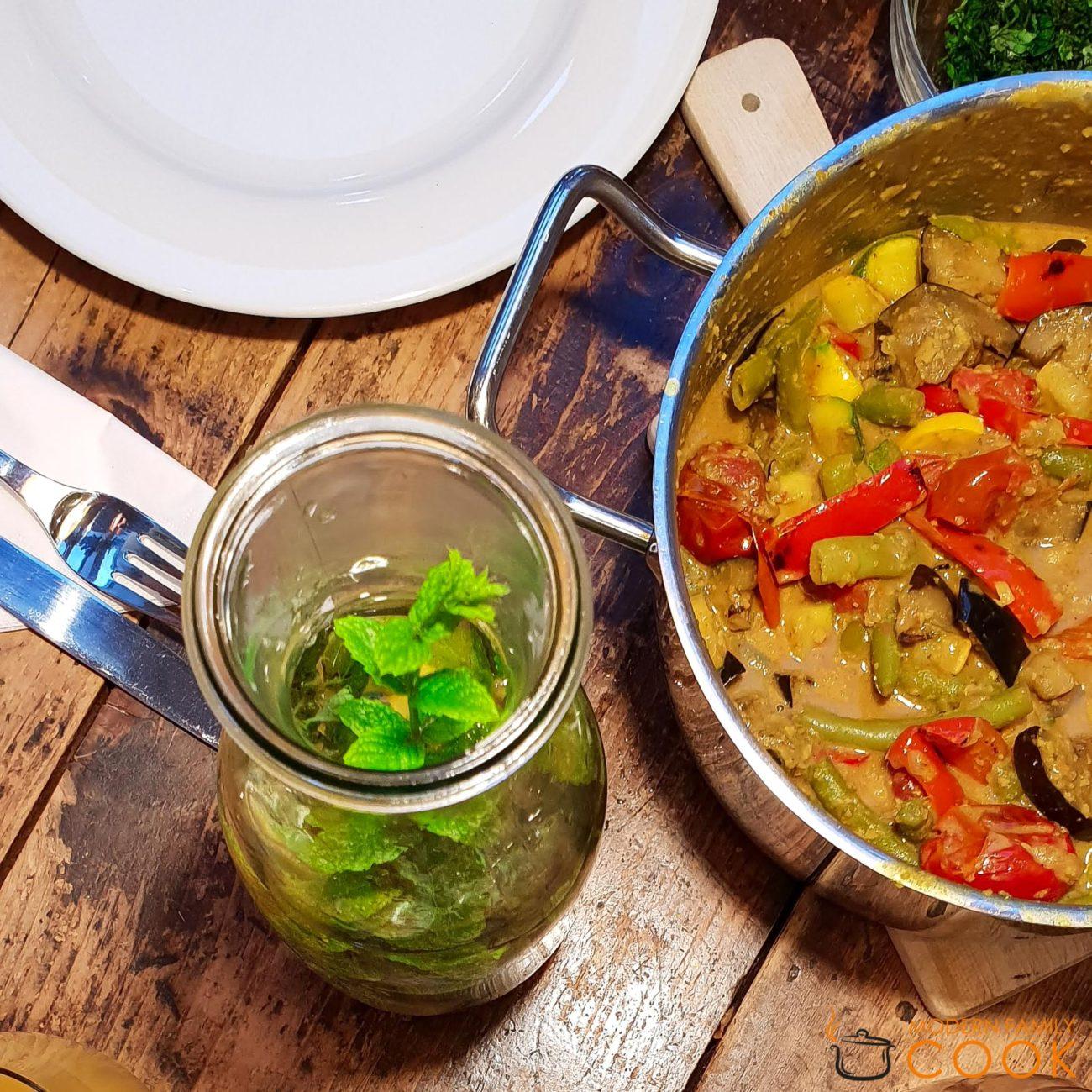 Карибский овощной карри