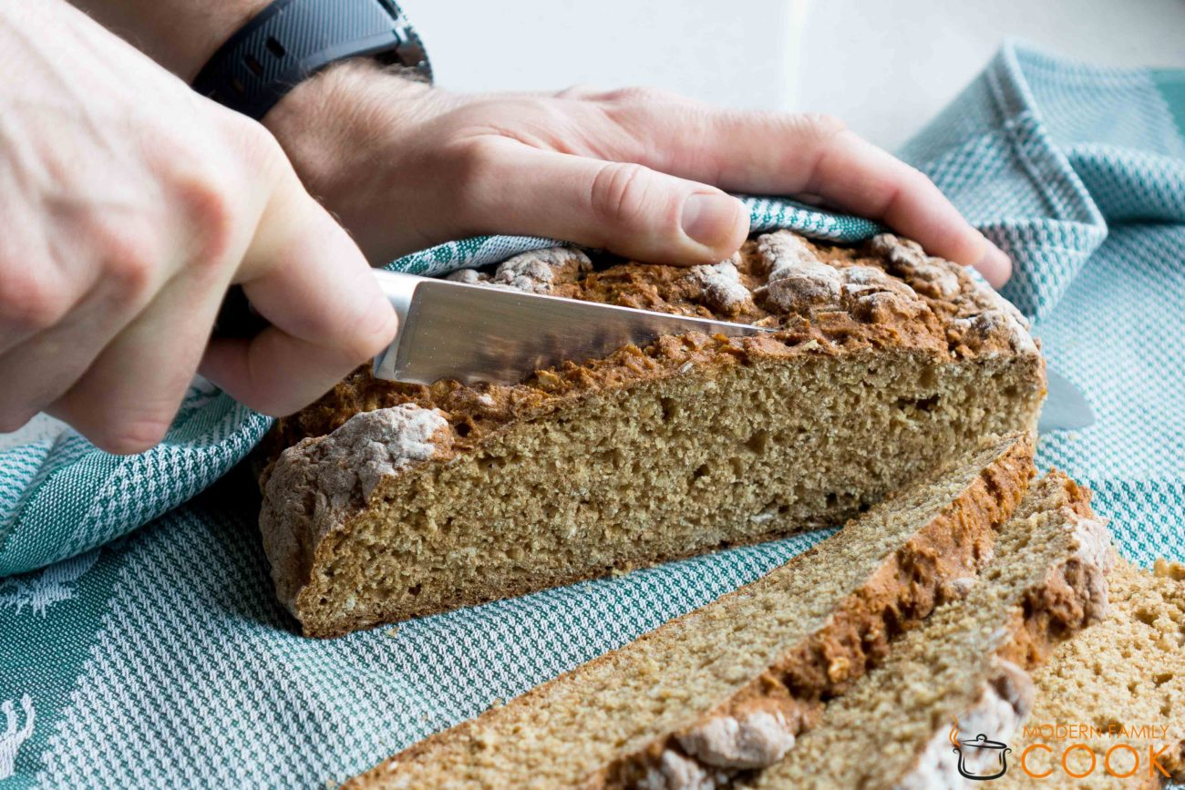 Ирландский содовый хлеб из цельнозерновой муки/Irish brown soda bread