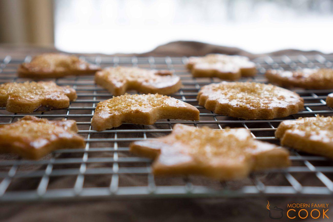 Зимнее песочное печенье