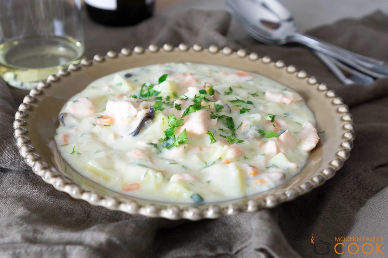 Чаудер из лосося/Salmon chowder