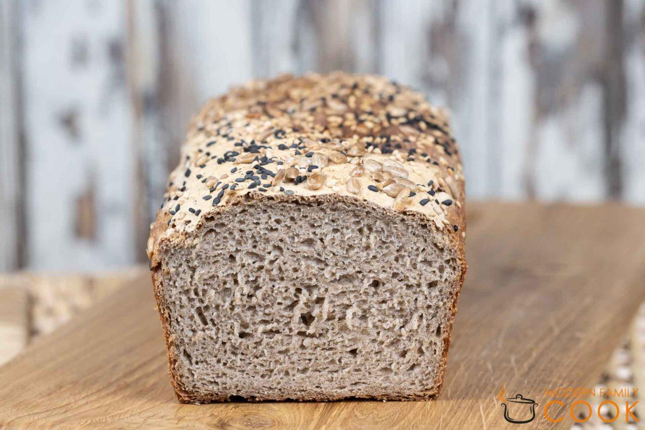 Шикарный «серый» хлеб с зернами (gluten-free, dairy-free)