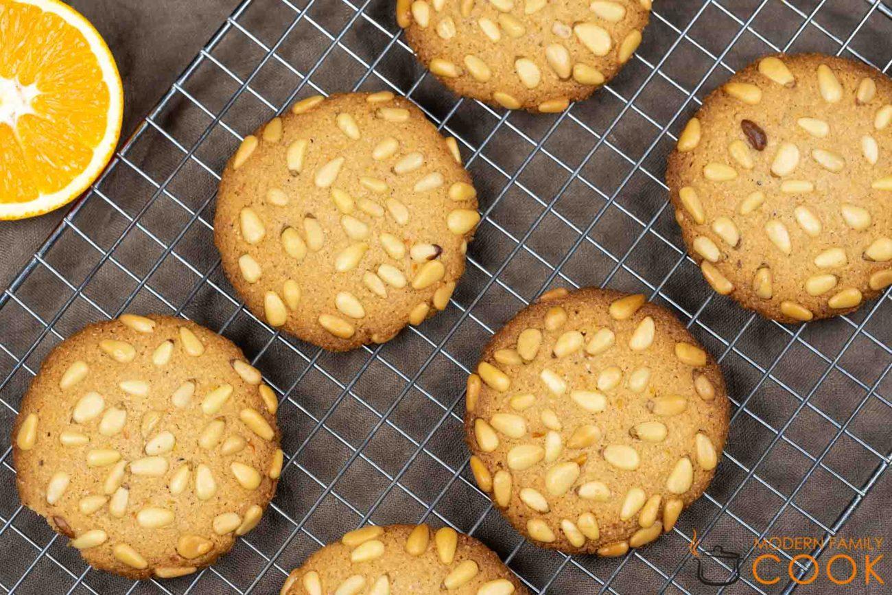 Апельсиновое печенье с кедровыми орехами/Orange pignoli cookies (gluten-free, dairy-free)