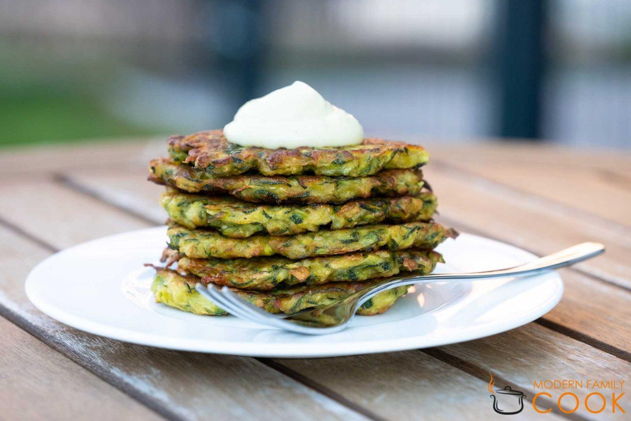 Оладьи из цукини/Zucchini fritters (gluten-free, vegan)