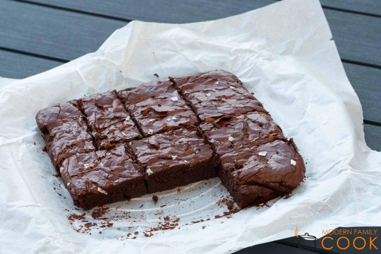 Безглютеновые тягучие брауни/Gluten-free chewy brownie (gluten-free, dairy-free)