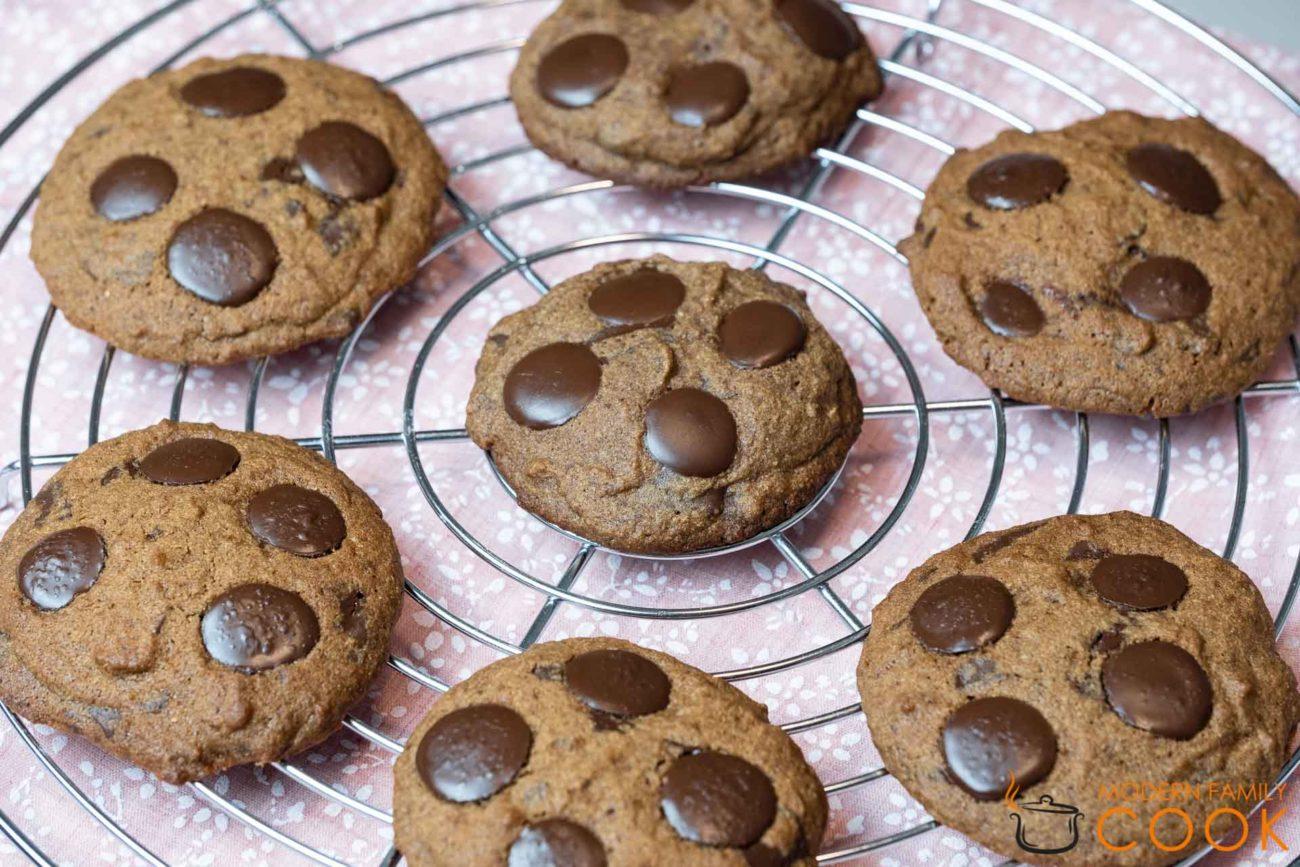 Печенье с черным шоколадом (gluten-free, dairy-free)